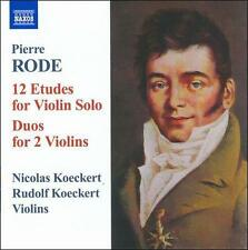Rode: 12 Etudes for Violin Solo, Duos for 2 violins, New Music