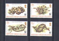 British Virgin Is. (BVI) 2005 WWF/Snakes/Reptiles/Animals/Nature/Boa 4v (n14868)