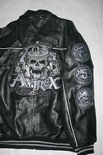 Avirex NY Black Fighter Bomber Jacket 3XL Rides & Rims Skeleton 75