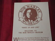 BOB MARLEY MUSEUM VISITOR HANDOUT-Kingston, Jamaica-From the 90's-EXCELLENT SHAP