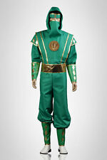 Mighty Morphin Power Rangers -- Green Ninjetti Ranger Cosplay Costumes
