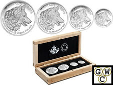 2016 'Wolf Fractional Set of 4 Coins' Proof Silver Set .9999 Fine(No Tax)(17501)