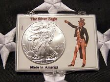2014 AMERICAN SILVER EAGLE ONE TROY OZ, .999 FINE, IN PROTECTIVE CASE, UNC