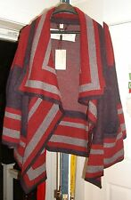 Burberry Brit Military Knit Blanket Sweater Coat Jacket L Poncho NWT Navy