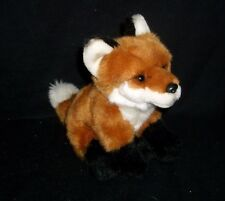 GANZ WEBKINZ SIGNATURE SERIES BROWN WHITE BLACK FOX STUFFED ANIMAL PLUSH TOY