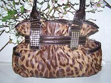 near MINT Kathy Van Zeeland Leopard Print Handbag...Stunning