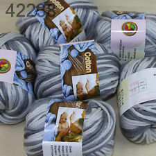 Sale 6 BallsX50g Smooth Special Thick Worsted Cotton Knitting Yarn Mom Gray 38