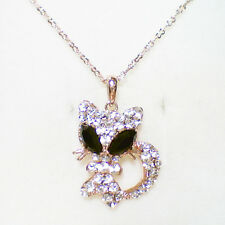 Fashion Jewelry - 18K Rose Gold Plated Cat Necklace (FN021)