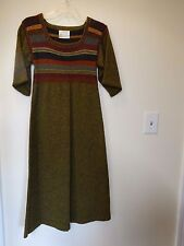1970's Vintage Knitted Wool Dress by Juliet Verney Extra Small   FREE SHIPPING