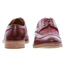 J SHOES Maroon Leather Brogues Size UK 6 RRP £125