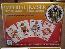 VINTAGE PIATNIK KAISER IMPERIAL #2138 DOUBLE DECK PLAYING CARDS - ONE SEALED