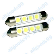 2x C10W 42mm WHITE LED INTERIOR FESTOON LIGHT BULBS Ford Transit Connect Fiesta