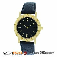 Authentic Unisex Bvlgari Bulgari BB 33 GL 18K Yellow Gold Quartz 33mm Watch