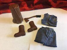 Vintage Mattel Big Jim Action Figure Parts Lot Great Shape!!!