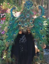 Beautiful Large Adult Peacock Feather Wings Fairy Costume Unique Handmade
