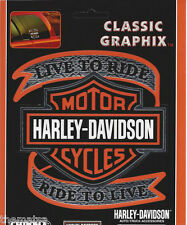 HARLEY DAVIDSON MOTORCYCLES LIVE TO RIDE BAR & SHIELD CLASSIC STICKER DECAL
