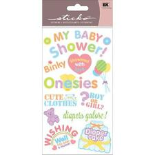 EK SUCCESS STICKO PLUS MY BABY SHOWER 3D DIMENSIONAL SCRAPBOOK STICKERS