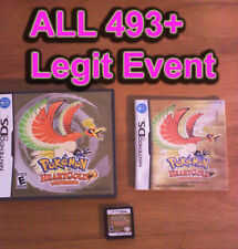 Pokemon Heartgold LOADED all 493 + Legit Event UNLOCKED With Case & Manual
