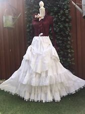 FAB OOAK MULTI LAYERED LACE/COTTON MAXI SKIRT SIZE 8-22 COSPLAY,WHITBY STYLE
