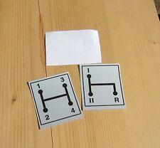 Schaltschema Aufkleber IHC 533 mit 4 Gang 2x Sticker O84