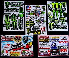 5 x STICKERS MOTOCROSS SCOOTER PIT BIKE MX Decals BMX ROCKSTAR ENERGY Z5GA