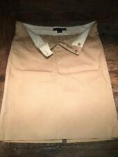 Ralph Lauren Black Label Khaki Stretch Pencil Skirt, US Sz8, Knee Length