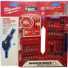 Milwaukee 48-32-4426 33 Piece Shockwave Drill And Driver Set With Knuckle