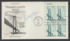 Richard J. Hughes, NJ Governor & NJ Chief Justice, signed Verrazano-Narrows FDC