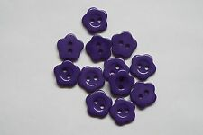 10pc 14mm Royal Purple Flower Shirt Cardigan Knitwear Kid Baby Button 1021