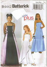 Formal Flared Dress Princess Seam Strapless Straps Sewing Pattern Plus 10 1/2-16