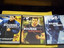 (3) The Bourne Identity DVD Lot: Bourne Identity Supremacy Ultimatum  Matt Damon