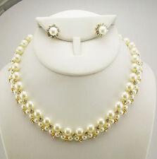 Joan Rivers Faux Pearl Necklace & Earring Set (w/ JR romance card) G