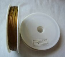 100 M Golden Tiger Tail Nylon Coated Beading wire .45mm