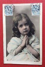 CPA. 1905. Petite Fille en Prière.