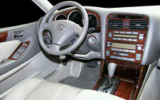 LEXUS GS 300 400 GS300 GS400 INTERIOR BURL WOOD DASH TRIM KIT SET 1998 1999 2000