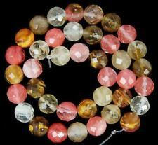 "6mm Faceted Watermelon Tourmaline Round Gemstone loose Beads 15"" LL003"
