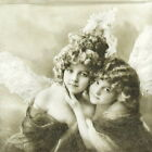 4x Single Lunch Party Paper Napkins for Decoupage Decopatch Craft Sweet Angels