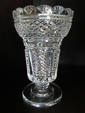 Vintage Waterford Irish Cut Crystal Master Cutter Hibernia Vase Signed