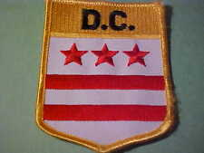 D.C.DISTRICT FLAG PATCH   EMBROIDED  IRON ON 3 X 3 1/2