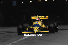 9x6 Photograph Pierre-Henri Raphanel , Coloni-Cosworth FC88 , Monaco GP 1989