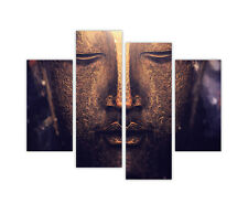 "EXTRA LARGE CANVAS PRINTS GOLDEN BUDDHA 4 PANEL 35""(90cm) XXL PICTURES PHOTOS"