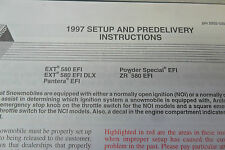 1997 Arctic Cat Set Up & Pre-Delivery Instructions Manual 2255-539