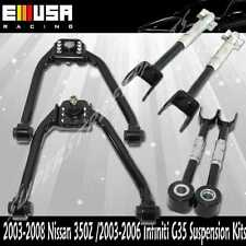 Front upper & Reat Camber Arm,Toe Arm fit 03-08 Nissan 350Z Base  G35 BLACK