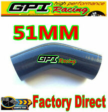 Silicone Hose 45 degree Bend Elbow 2inch 51mm Black Silicon Intake Tube pipe BL