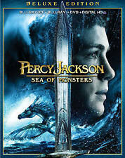 PERCY JACKSON SEA OF MONSTERS 3D (Blu-ray//3D/DVD,2013 3-Disc, DC) NEW