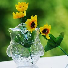Owl Shape Small Glass Vase for home