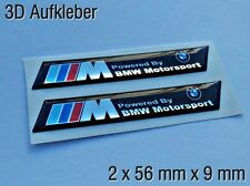 2x ///M Powered by Motorsport BMW 3D Logo Aufkleber M1 M3 M5 M6 X5 X6 Z3 Z4