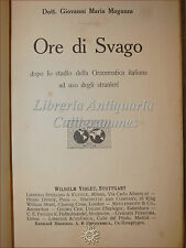 ENIGMI CARTOMANZIA: Giovanni Maria Maganza, ORE DI SVAGO 1911 Violet Passatempi