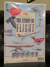 The Story of Flight,100-Year Panorama by Gordon Swanborough,11' long Wall Chart,