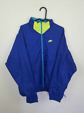 MENS VTG RETRO BRIGHT NIKE ATHLETIC SPORTS ZIP-UP TRACKSUIT TOP JACKET VGC L/XL